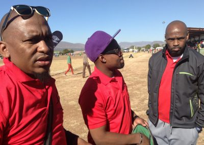 At Kopano Sekgobela Tournament we see SAFPU General Secretary Thulaganyo Gaoshubelwe, Deputy DS Nhlanhla Shabalala and Treasure Gordon Maseko