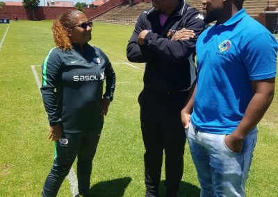 DGS and GS Addressing the Banyana Banyana Coach