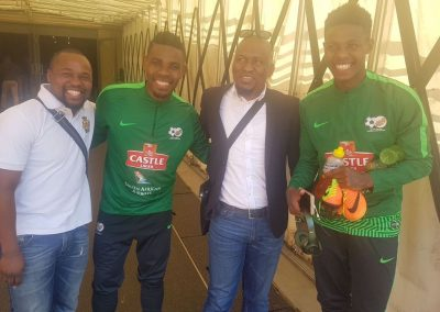 DGS and GS with Bafana Bafana and Bidvest Wits Captain Thulani Hlatshwayo and Bongani Zungu who plays in Portugal