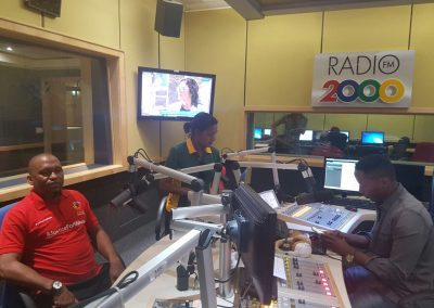 GS ON RADIO 2000 ADVANCING PLAYERS INTEREST IN FOOTBALL