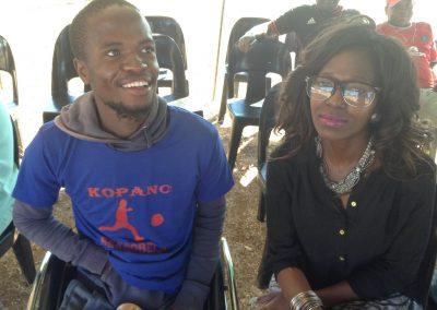 Kopano Sekgobela with SAFPU PA Tshepiso Lethuloe at Benefit tournament