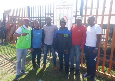 Former Players in Support of the (SOW) Shoes of Wisdom Upliftement project.