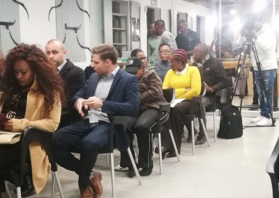 Media and guests attending the SAFPU Standard Bank Launch