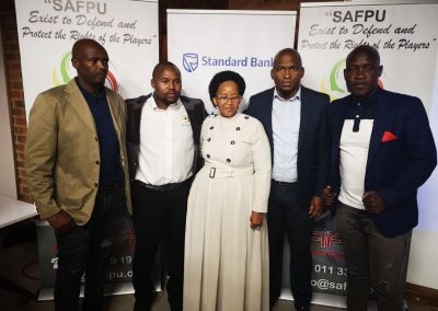 SAFPU Leadership with the Honourable Tokozile Xasa at the SAFPU &Standard Bank launch.