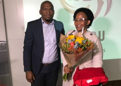 SAFPU Showing Appreciation to the Minister of Sports.