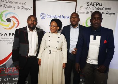 SG Nhlanhla Shabalala, Minister of Sport (H)Tokozile Xasa, President Thulaganyo Gaoshubelwe and 1st Vice President tebogo Monyai