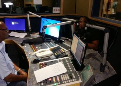 SG giving Enlightenment on the Burning issue of Sports Tax on Lesedi FM.