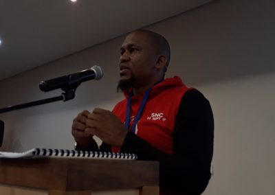 SG making a presentation at the (SNC) in Cape Town.