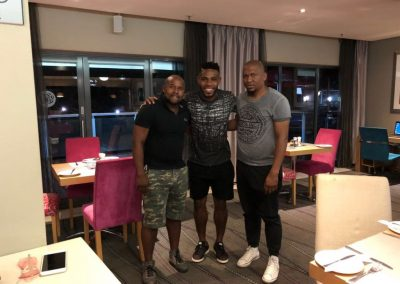 The President& the SG after a fruitful meeting with the Bidvest Wits and Bafana Bafana Captain Thulani Hlatshwayo
