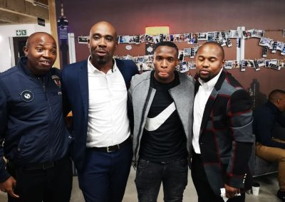 the SG together with Lizo Mjempu (former Ajax and Pirates Player), Lucky mogapi and George Maluleka (Curren (Kaizer Chiefs Player) at the Launch
