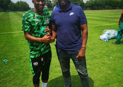 Lebo Maboe and DSG Taelo Motloung.