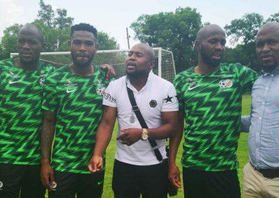 Sfiso Hlanti, Captain Thulani Hlatshwayo, Shaba, Ramahlwe Mphahlele and Thula.
